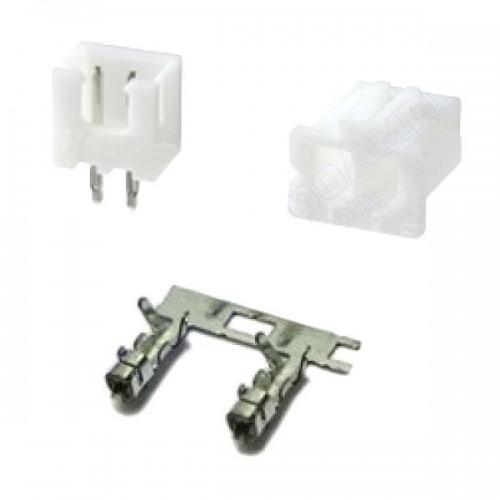 Комплект конекторів KLS1-2.50-02 (на плату і провід) прямі
