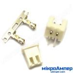 Комплект конекторів KLS1-2.50-02 (на плату і провід) кутові