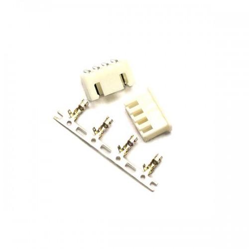 Комплект конекторів KLS1-2.50-04 (на плату і провід) кутові