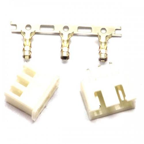Комплект конекторів KLS1-2.50-03 (на плату і провід) прямі