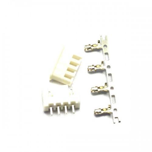Комплект конекторів KLS1-2.50-04 (на плату і провід) прямі