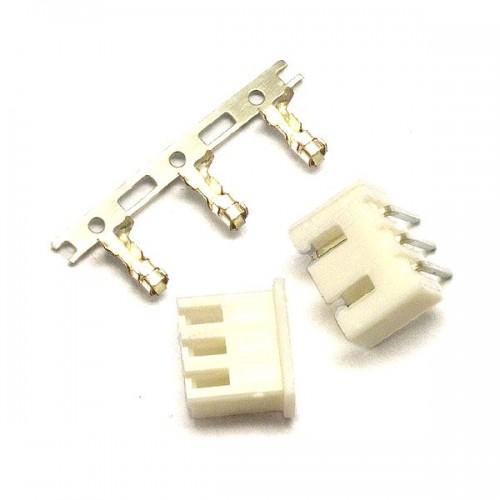 Комплект конекторів KLS1-2.50-03 (на плату і провід) кутові