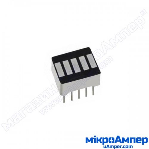 5 сегментний LED індикатор рівня
