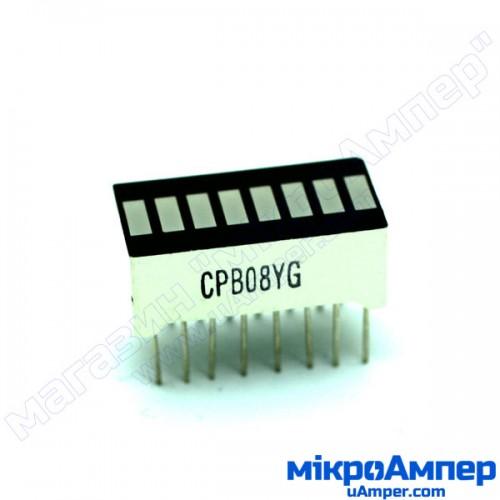 8 сегментний LED індикатор рівня