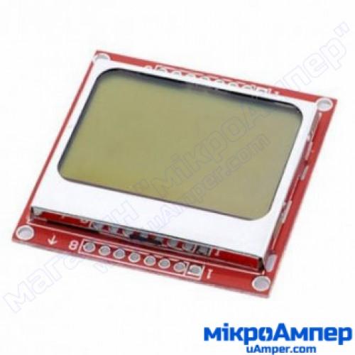 Nokia 5110 LCD модуль червоний
