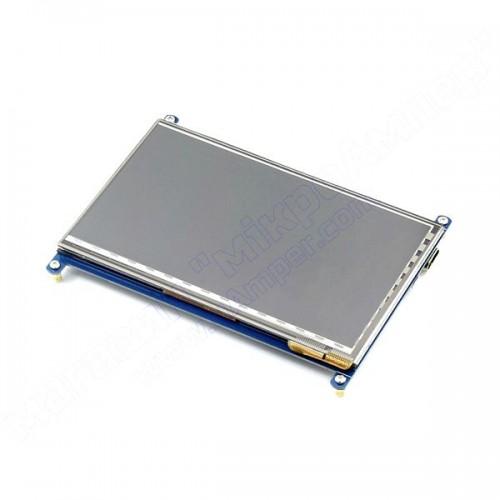7 дюймів сенсорний LCD 800х480