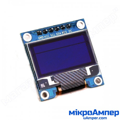 OLED LCD 0.96 дюйма двоколірний SPI